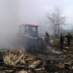 Vâlcelele: Două tractoare Class au ars la ferma lui Marian Moise