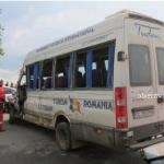 Accident teribil: Un microbuz al firmei Tudan a fost făcut praf, la ieșirea din Slobozia / Galerie foto