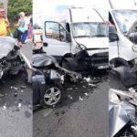 Accident: După ce au fost în pelerinaj la Arsenie Boca, mai mulți pensionari din PSD s-au speriat teribil, după ce microbuzul în care se aflau s-a făcut praf